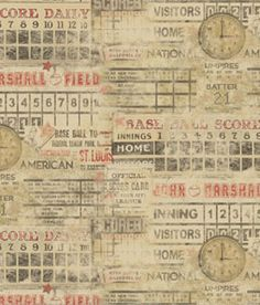 Baseball Fabric Bundle And Panel To Make A Quilt The