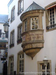 Lema nacional de Luxemburgo en Ciudad de Luxemburgo
