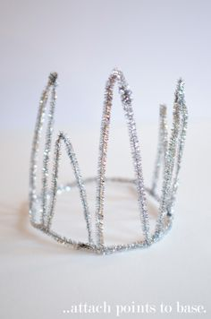 Silver Pipe Cleaner Crown. Love this as an alternative to a tiara.