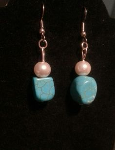 Turquoise nuggets and pearls...