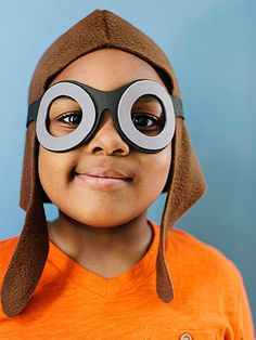 Awesome Airplane Birthday Party: Ace Pilot Cap and Goggles (via FamilyFun Magazine)