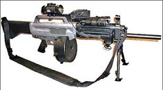 The Atchisson Assault MPS AA-12 combat shotgun can fire from a 10-round box or 20- and 32-round ammunition drums and is capable of firing 360 rounds per minute