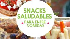 SNACKS SALUDABLES PARA BAJAR DE PESO Lunch Saludable, Snacks Saludables, Healthy Snacks, Dairy, Cheese, Food, Gourmet, Easy Recipes, Eating Clean