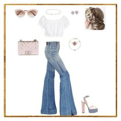 """""""Untitled #51"""" by sb187 ❤ liked on Polyvore featuring Roberto Cavalli, Giuseppe Zanotti, Chanel, Hueb, Loquet, Sabine Getty, Blue Nile and Gucci"""