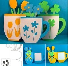 Pop up cards with kids