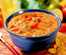 African Chicken Peanut Soup; A+  Add liquid, try adding cinnamon, more sweet potato and more peanut butter   http://www.myrecipes.com/m/recipe/african-chicken-peanut-soup