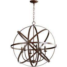 View the Quorum International 6009-6 Celeste 6 Light 1 Tier Globe Chandelier at LightingDirect.com.