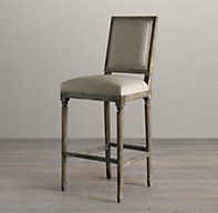 Overstock Patterson Beige Linen Barstools Set Of 2