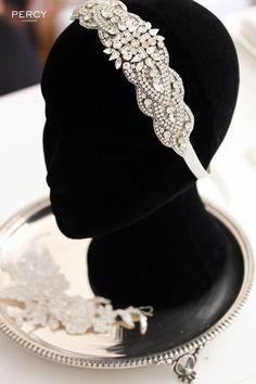 Bridal headband with rhinestones by Percy Handmade