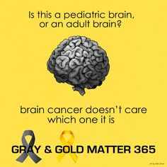 Who the brain belongs to doesn't matter to cancer. Brain Cancer Awareness, Gray Matters, Online Support, Pediatrics, Don't Care, Grey, Gray