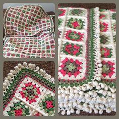Blanket, deken, 34 bollen catania, 155 x 85, 264 squares....prachtig!