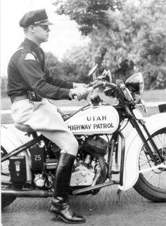 Utah Highway Patrol Motorcycle,  more at www.PoliceHotels.com