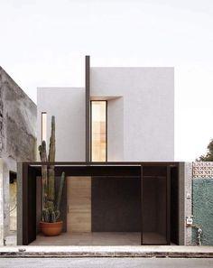 Modern Residential Architecture, Minimalist Architecture, Facade Architecture, Concept Architecture, Japanese Architecture, Sustainable Architecture, Facade Design, Exterior Design, Modern Townhouse