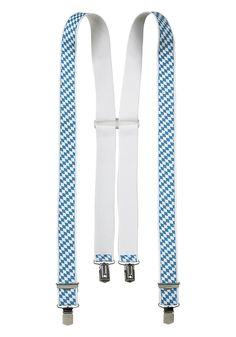 Produkttyp , Hosenträger, |Obermaterial , Polyester, |Farbe , blau-weiß, |Optik , Gemustert, |Verschlussart , Klemmverschluss, |Länge , 110 cm, |Breite , 3,5 cm, | ...