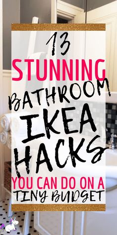 IKEA Bathroom Hacks: 13 Ways To Get Your Dream Bathroom (On a Budget) Related posts: 12 DIY bathroom decor ideas with a budget you should not miss Ideas Diy Home Decor For Renters Bathroom Budget – Bar Cart IKEA Country Hacks – … Bathroom Hacks, Ikea Bathroom, Diy Bathroom Decor, Budget Bathroom, Bathroom Organization, Bathroom Decor Ideas On A Budget, Bathroom Makeovers, Bathroom Cabinets, Master Bathroom