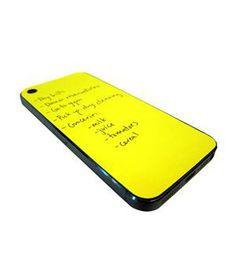 Paperback Sticky Notes: It's the sticky-note for the 21st century—a pad of 80 yellow adhesive-backed sheets that exactly fit on the back of an iPhone.
