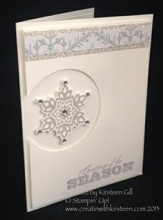 Stamp 'n' Stack Clean and Simple Cards - Festive Flurry