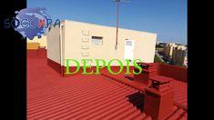 Encapsulamento de telhado de fibrocimento contendo amianto. Basketball Court, Sports, Paintings, Hs Sports, Sport