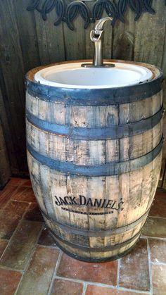 Whisky Barrel Sink