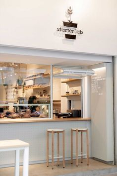 Starter Lab Singapore Celebrates the Beauty of Bread Making — Design Anthology Cafe Shop Design, Small Cafe Design, Cafe Interior Design, Retail Interior, Retail Store Design, Retail Stores, Cafe To Go, Coffee Cafe, Coffee Shop