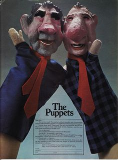 National Lampoon's Nixon & Agnew puppets - my brother had these...