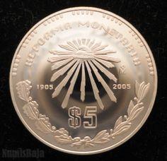 Moneda de plata de la reforma monetaria Mexico