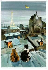 Paris Cats on the Roof - Colette Bruneliere