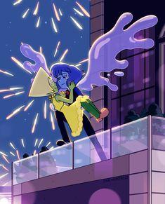 Steven Universe Lapidot, Steven Universe Ships, Greg Universe, Steven Universe Comic, Universe Art, Lapis And Peridot, Lapis Lazuli, Princess Toadstool, Steven Univese