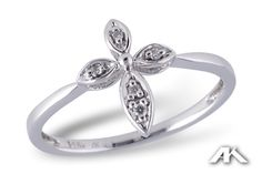 Show our faith with this stylish diamond cross ring. www.melodysqualityjewelry.com