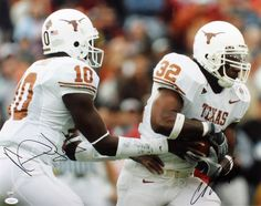 Vince Young & Cedric Benson Signed 16x20 Photo - JSA #SportsMemorabilia #TexasLonghorns