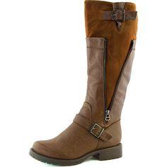 Women's Breckelle's Reno-15 Tan Color Knee High Boots, Reno-15 Tan Color