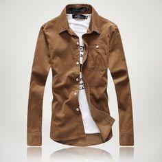 Mens Dress Shirts Fine Plaid Classic Casual Slim Fit Brand Long Sleeve Shirts