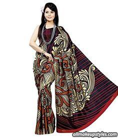 Meher Silk Printed Saree (SD5194_Black)