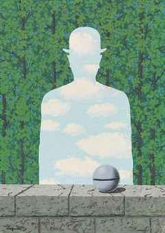 Rene Magritte - The Beautiful Walk, 1965