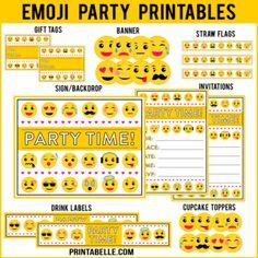 Emoji Party Printables
