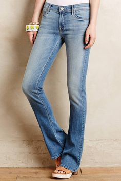 Runaway Skinny Flare Jeans by Mother #anthrofave #anthropologie