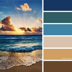 Shades Of A Summer Sunset On The Sea (Photo Credit • s-p-r-i-n-g.tumblr.com) #chasingcolor #colorthemes #colorful #color #palette #colorpalette #shades #tones #hues #colorinspiration #inspiration #creative #art #photography #design #theme #ocean #sea #seaside #water #sunset #sand #blue #gold