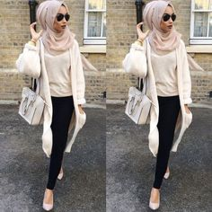 white cardigan with creamy blouse