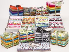 fat quarter fabric bundles by Robert Kaufman Fabrics, perfect for quilting http://www.modes4u.com/advanced_search_result.php?keywords=fabric+bundle  #sewing #quilting