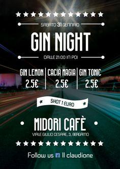 Flyer Midori - Sabato 31 Gennaio - Gin Night