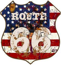Vintage-Route 66-Schild,