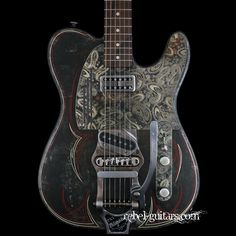 James Trussart Rust-O-Matic Pinstripe Paisley Steelcaster with B-16 | Rebel Guitars