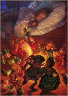 """ Scott Gustafson ~ Visions of Sugar Plums ~ The Night Before Christmas ~ via The Pictorial Arts Merry Christmas! """