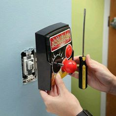 Power-Up Arcade Light Switch Plate! Replace your light switch with a joystick. Press the buttons for arcade sound effects (pew pew! For the future man-cave. Deco Gamer, Arcade Joystick, Game Room Design, Gamer Room, Nerd Room, Game Room Decor, Light Switch Plates, My Room, Inventions