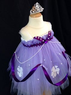 Sofia the First Tutu Dress by TreasuredTutu on Etsy, $100.00
