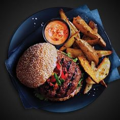 Pork Burgers with Pizzazz Pork Roll, Pork Burgers, Pork Stir Fry, Cooking Sauces, Pork Recipes, Hamburger, Fries, Steak, Beef