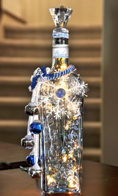 Electric Christmas Light Bottle Candle for by AwesomeBottleCandles, $30.00