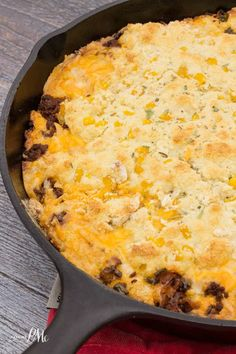 Cheesy Chorizo Cornbread spicy, full of flavor and hearty enough for a meal in itself. This is a new and improved classic Southern cornbread!