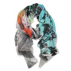 DLUX Arcadia Wool Silk Digital Print Scarf – Sally Anne
