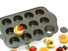 Nonstick Mini Cheesecake Pan  great size pan for so much more how about mini cupcakes or quiches